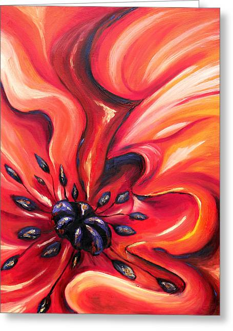 Consuming Fire Greeting Card by Meaghan Troup