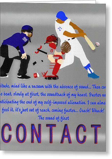 Contact Greeting Card by Billy Cooper Rice