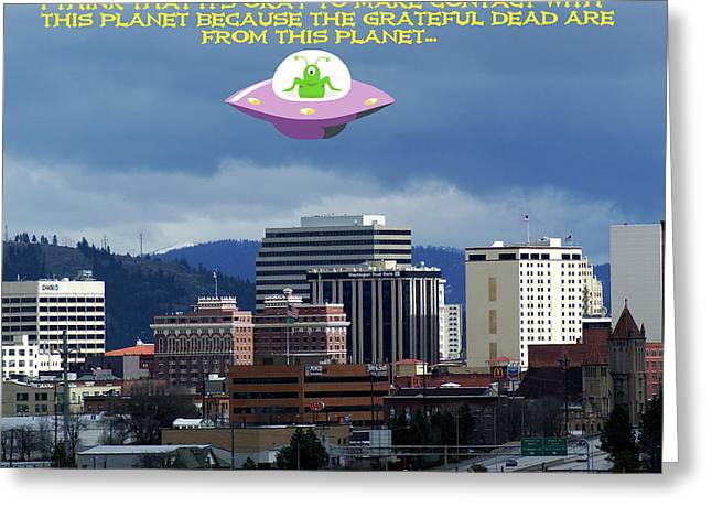 Contact With A Dead Planet 2 Greeting Card
