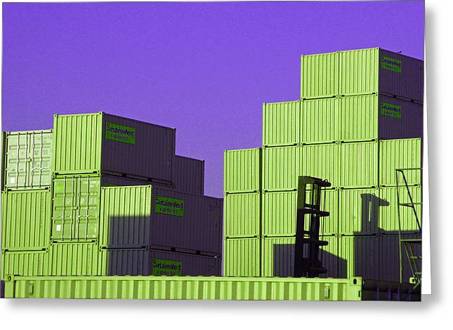 Containers 18 Greeting Card by Laurie Tsemak