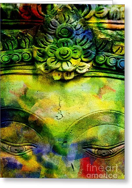 Contemplating Colors Greeting Card