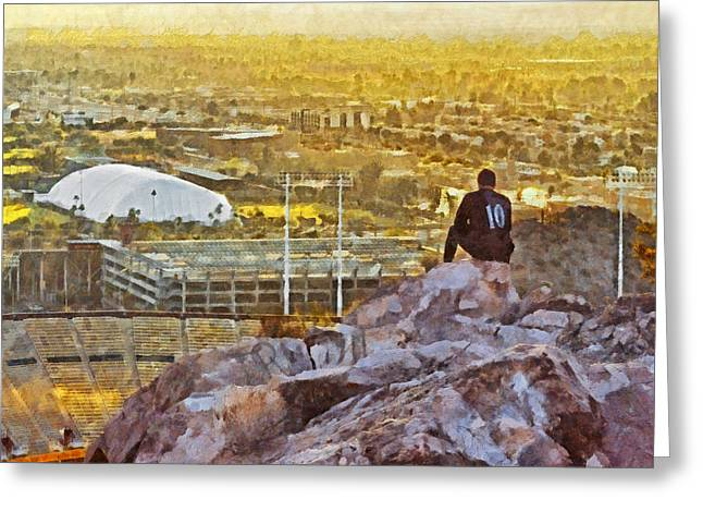Contemplating The Day To Come Greeting Card by Digital Photographic Arts