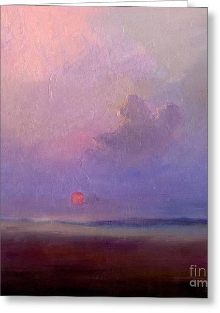 Contemplation At Sunset Greeting Card by Svetlana Novikova