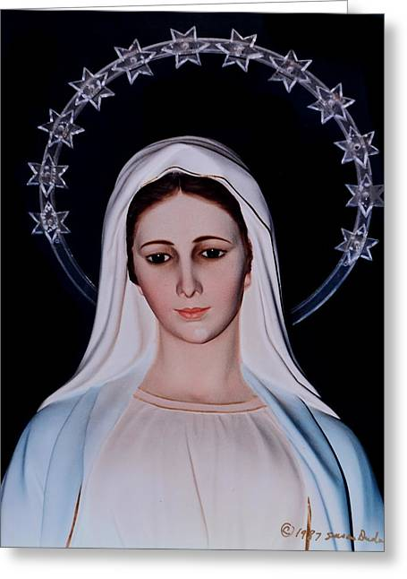 Contemplative Our Lady Queen Of Peace  Greeting Card