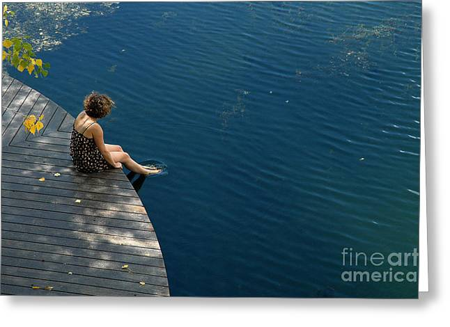 Contemplative  Greeting Card by Tina Osterhoudt