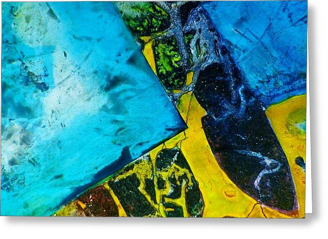Contempo Seven Greeting Card by David Raderstorf