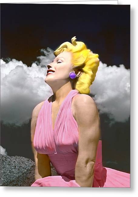Contemporary Marilyn Greeting Card