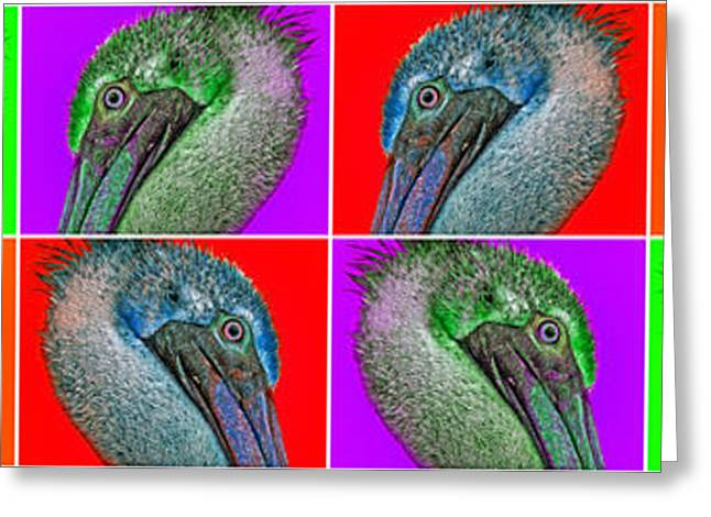 Contemporary Pelicans Greeting Card by Betsy Knapp