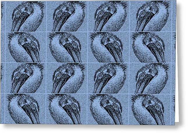 Contemporary Pelicans IIi Greeting Card by Betsy Knapp