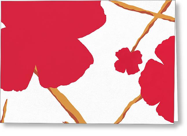 Contemporary Poppy Greeting Card