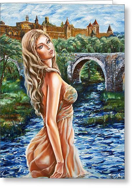Contessa De Carcassonne Greeting Card