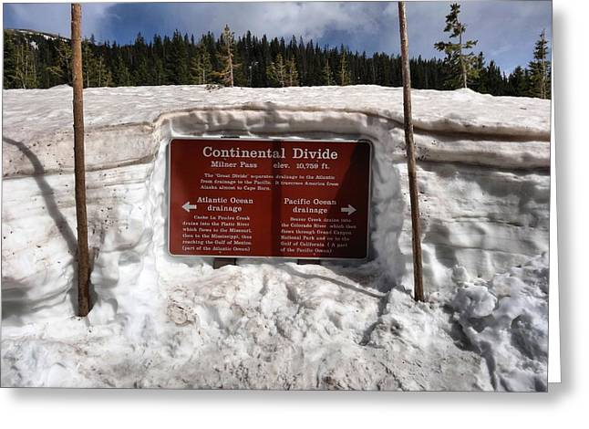 Continental Divide Greeting Card by Dan Sproul