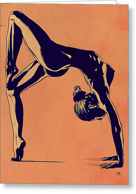 Contortionist Greeting Card by Giuseppe Cristiano