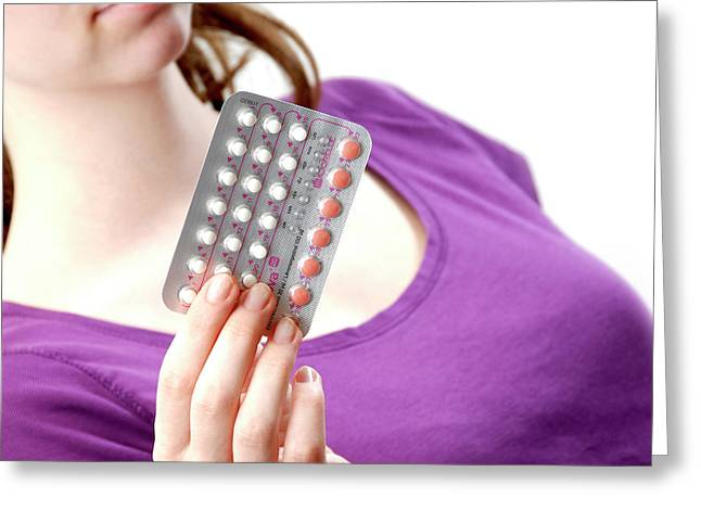 Contraceptive Pills Greeting Card by Aj Photo