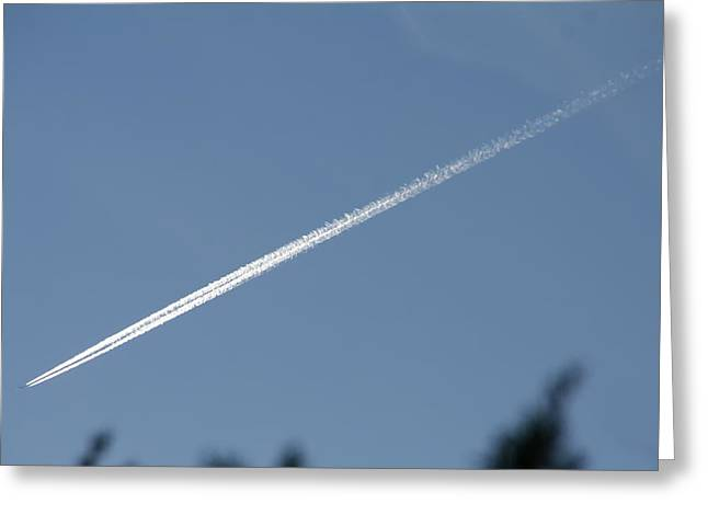 Contrail Greeting Card by David S Reynolds