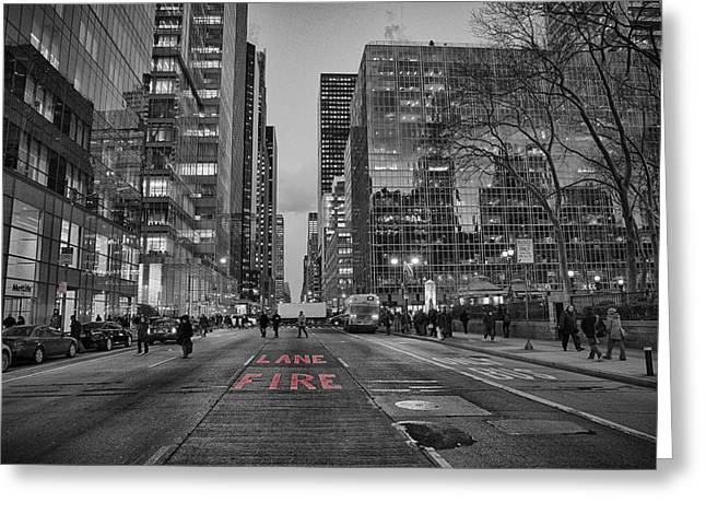 Contrast Road Greeting Card by Emmanouil Klimis
