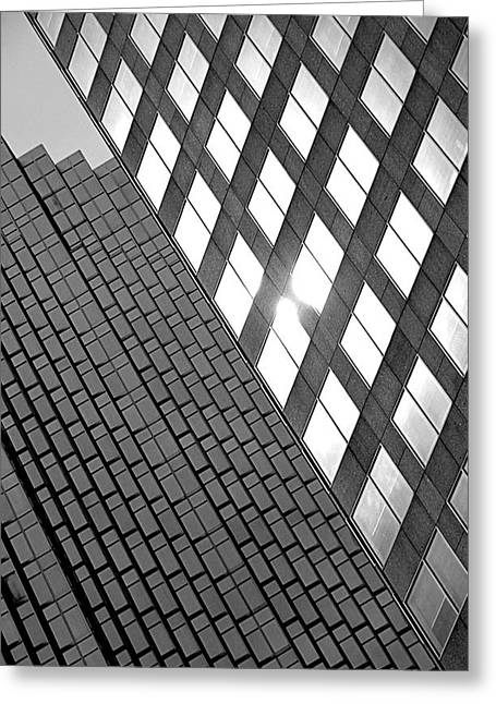 Contrasting Architecture Greeting Card by Valentino Visentini