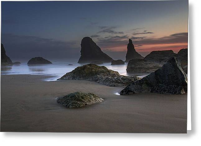 Contrasting Partners..... Bandon Oregon Greeting Card by Tim Bryan