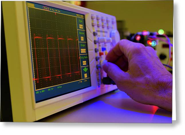 Control Panel In Lab Greeting Card by Wladimir Bulgar