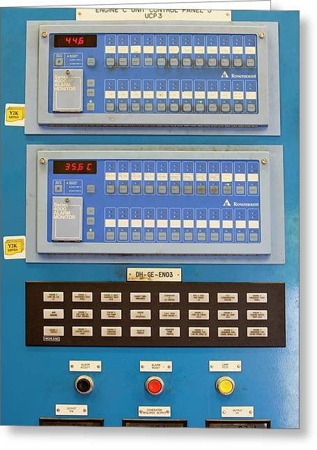 Control Panels For The Biogas Boilers Greeting Card