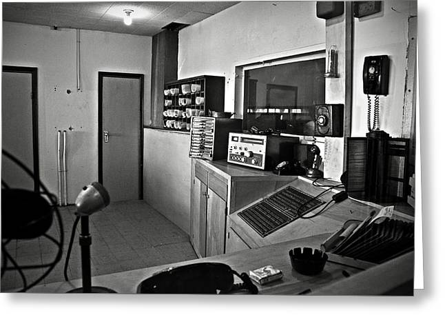 Control Room In Alcatraz Prison Greeting Card