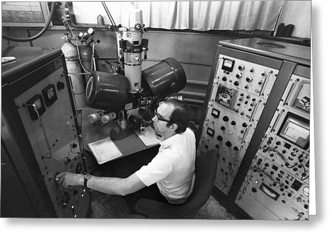 Controls Of Early Electron Microscope Greeting Card