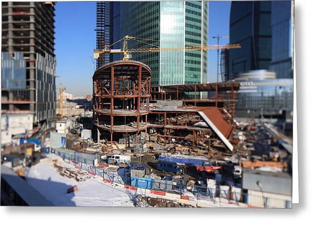 Contruction Site Greeting Card