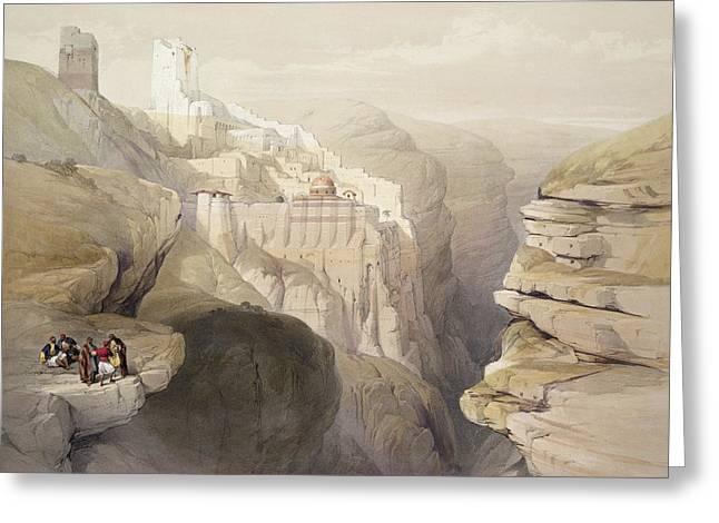 Convent Of St. Saba, April 4th 1839 Greeting Card by David Roberts