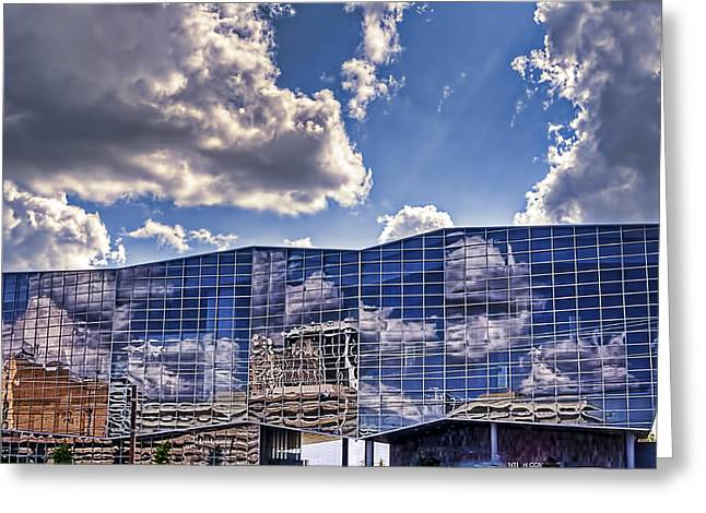 Convention Center Greeting Card by Maria Coulson