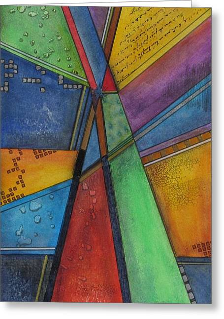 Convergence Greeting Card by Nicole Nadeau