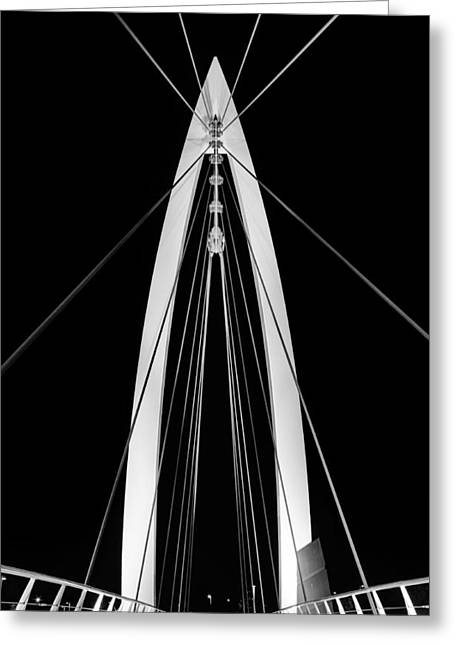 Convergence On Wichita Bw Greeting Card by JC Findley