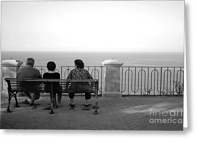 Conversations By The Sea Greeting Card