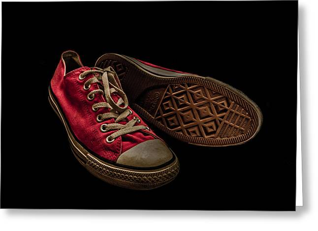 Converse No 3 - Red Greeting Card by Lubos Kavka