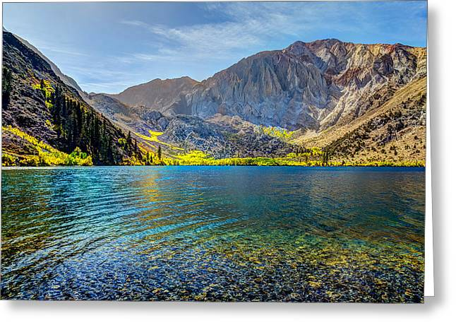 Convict Lake Fall Color Greeting Card