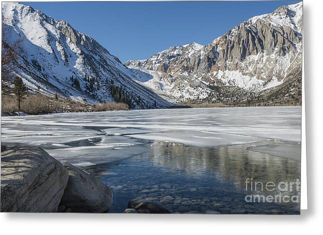 Convict Lake Morning Greeting Card by Sandra Bronstein