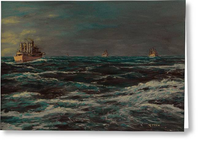 Convoy Morning North Atlantic Wwii Greeting Card