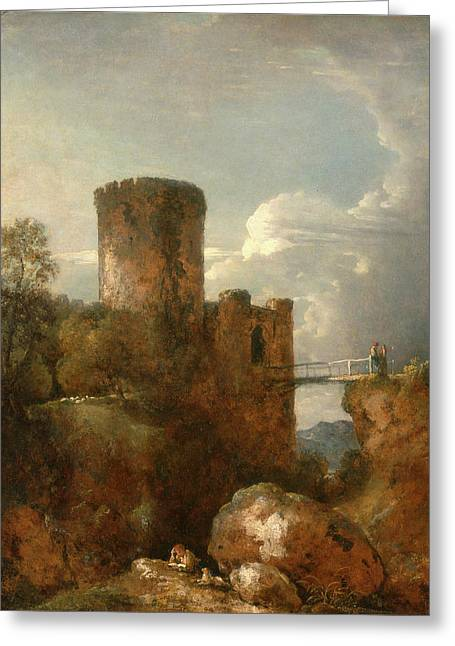 Conway Castle, George Howland Beaumont, 1753-1827 Greeting Card by Litz Collection