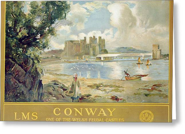Conway Castle Greeting Card