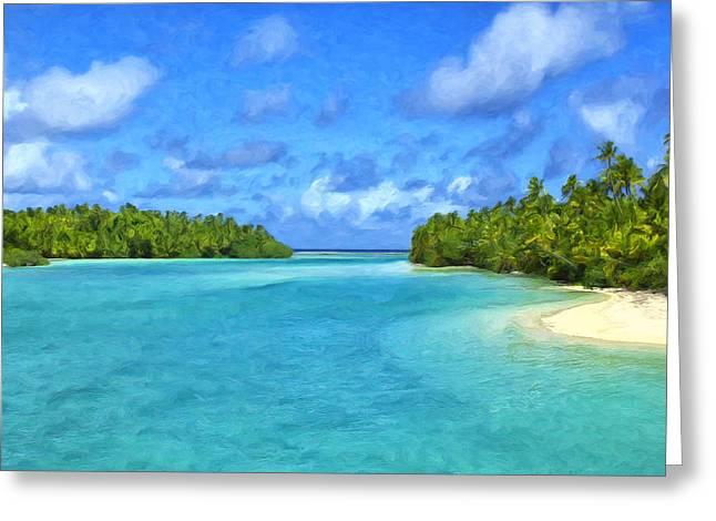 Cook Islands Lagoon Greeting Card
