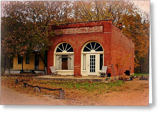Cook Station Bank Greeting Card by Marty Koch