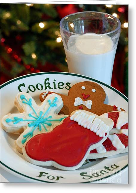 Cookies For Santa  Greeting Card by Amy Cicconi