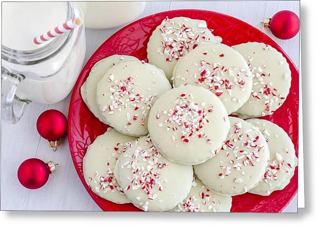 Cookies For Santa Greeting Card by Teri Virbickis