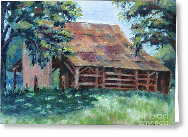 Cool Barn Greeting Card by William Reed