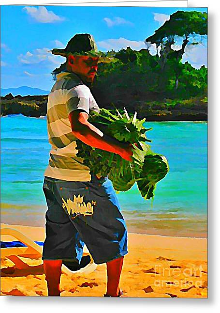 Cool Beach Merchant Greeting Card by John Malone