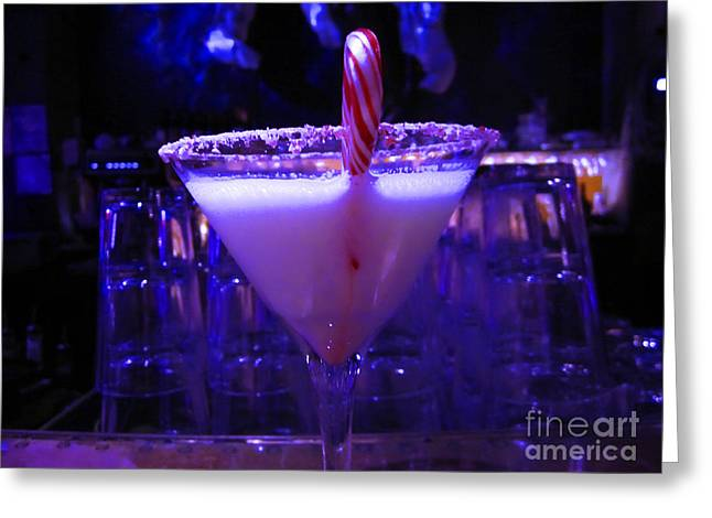 Cool Blue Cocktail Greeting Card by Kym Backland
