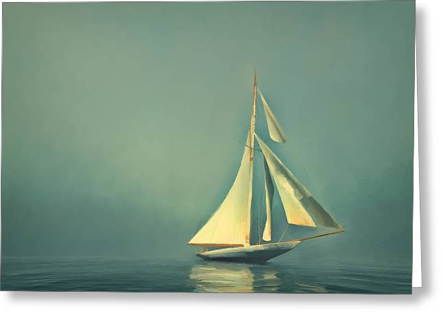 Cool Blue Sea Greeting Card by Lonnie Christopher