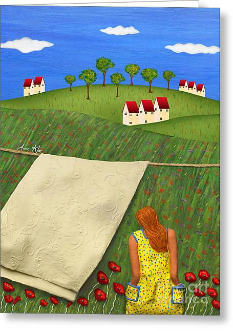 Greeting Card featuring the sculpture Cool Breeze by Anne Klar