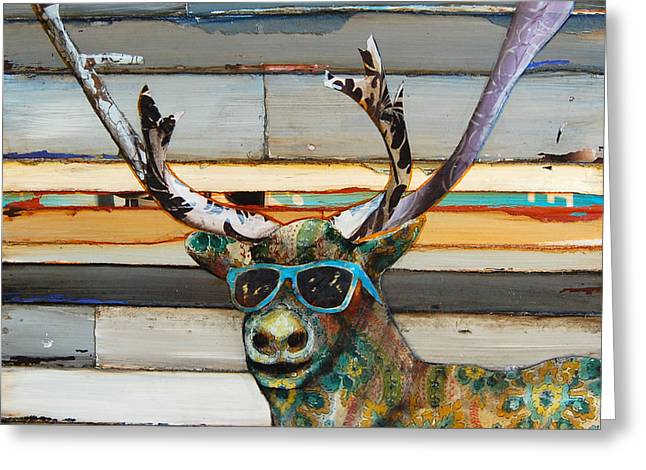 Cool Caribou Greeting Card by Danny Phillips