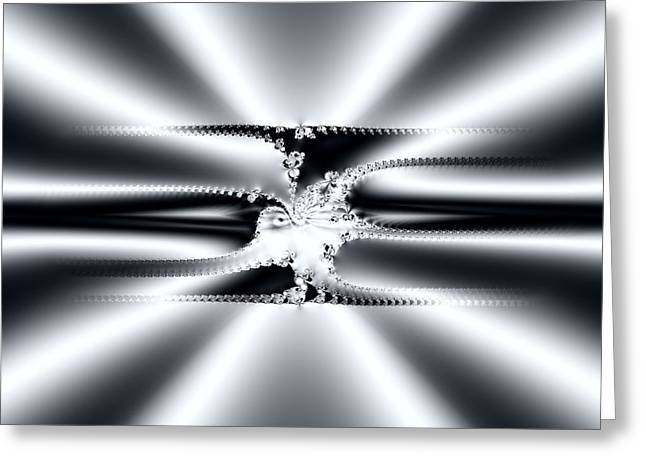 Cool Clean Stainless . Fractal Greeting Card by Renee Trenholm
