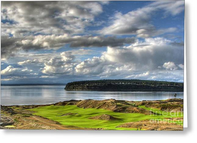 Greeting Card featuring the photograph Cool Clouds - Chambers Bay Golf Course by Chris Anderson